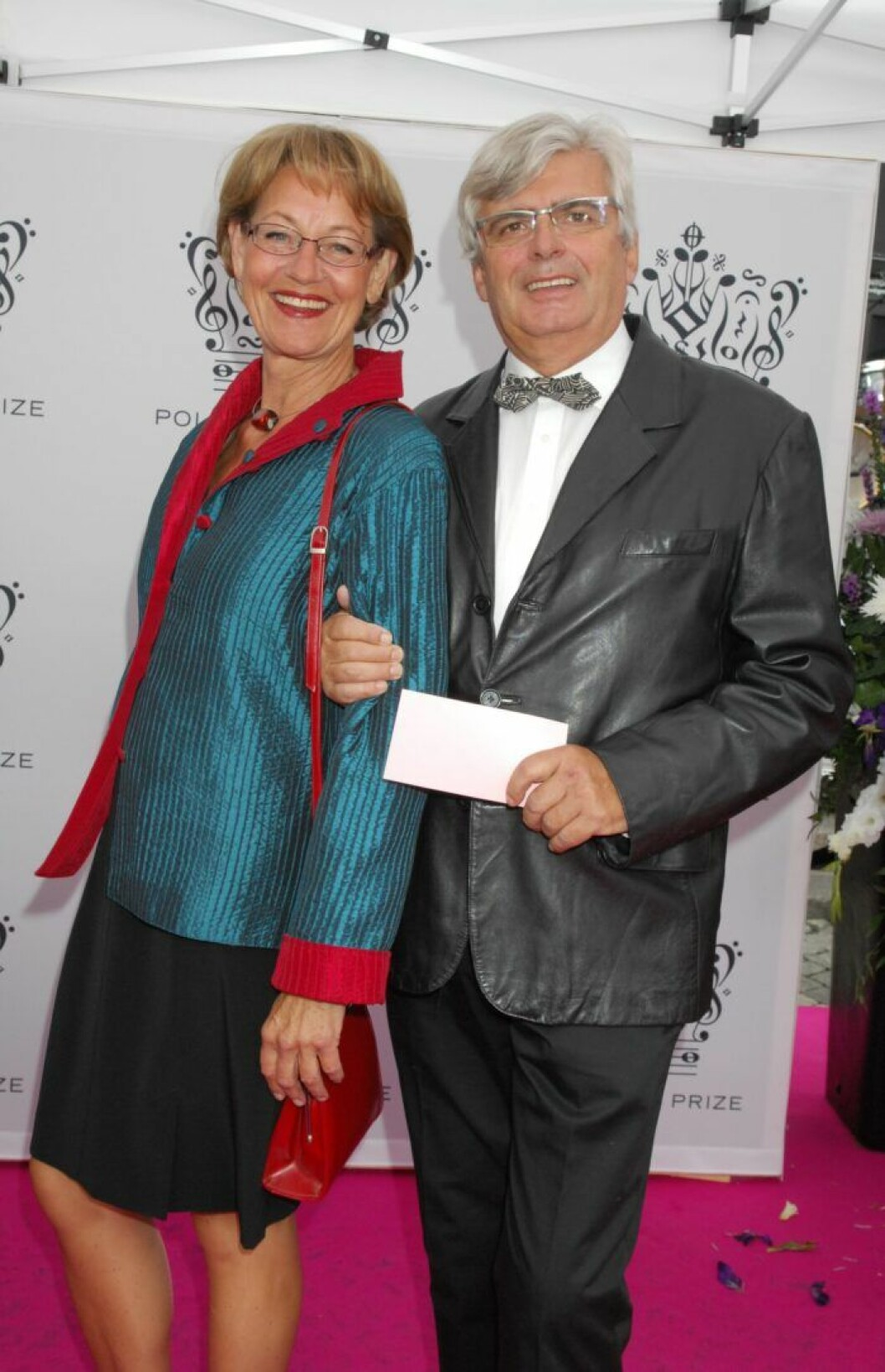 Politikern Gudrun Schyman och hennes sambo Jaques Öhlund på Polar Music Prize 2010.