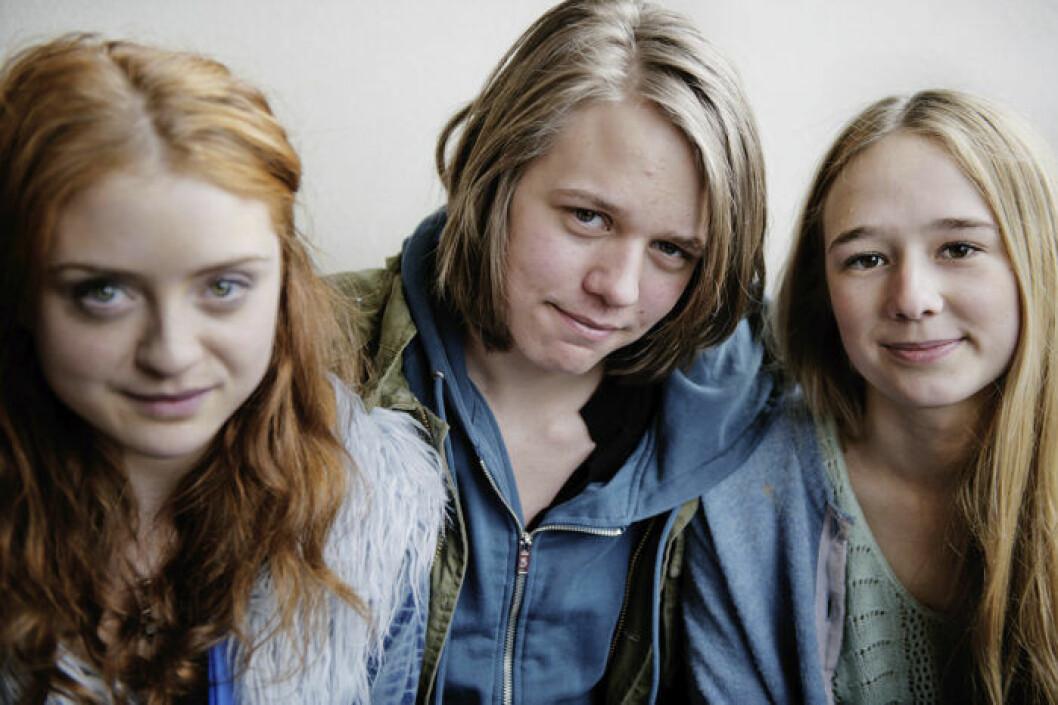 Happy Jankell, Valter Skarsgård och Alba August från filmen IRL.