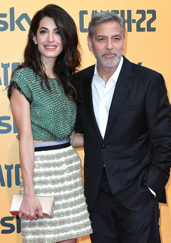 George Clooney är gift med advokaten Amal Clooney.
