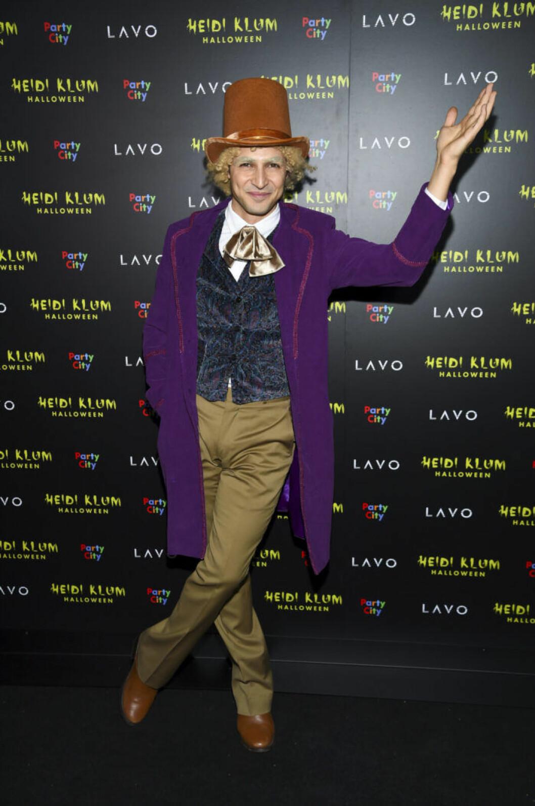 Zac Posen som Willy Wonka.