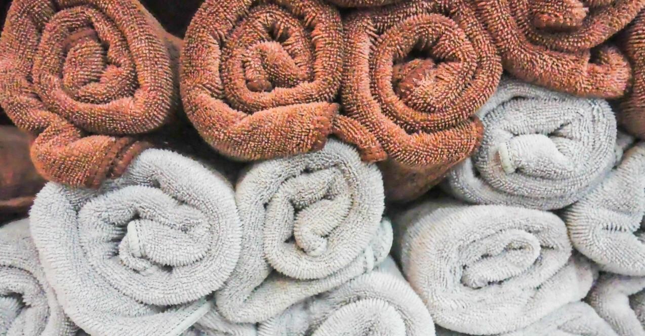 Handdukar kan vara svåra att få rent.