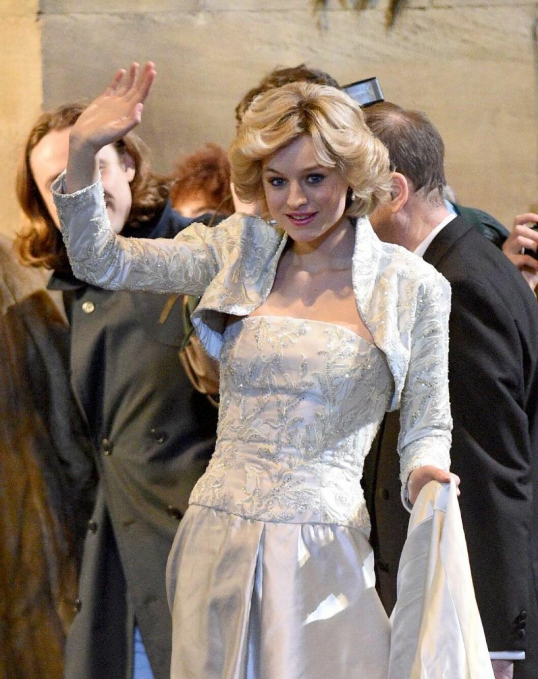 Emma Corrin spelar prinsessan Diana i den fjärde säsongen av The Crown.