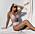 Blommig bikini i trekantsmodell och trosor med hög midja från Seaquelle.