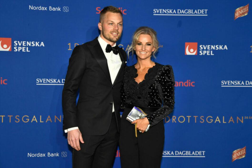 Röda mattan, Sebastian Larsson och frun Tina