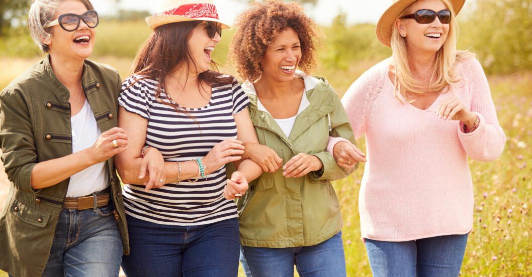 Fyra glada kvinnor