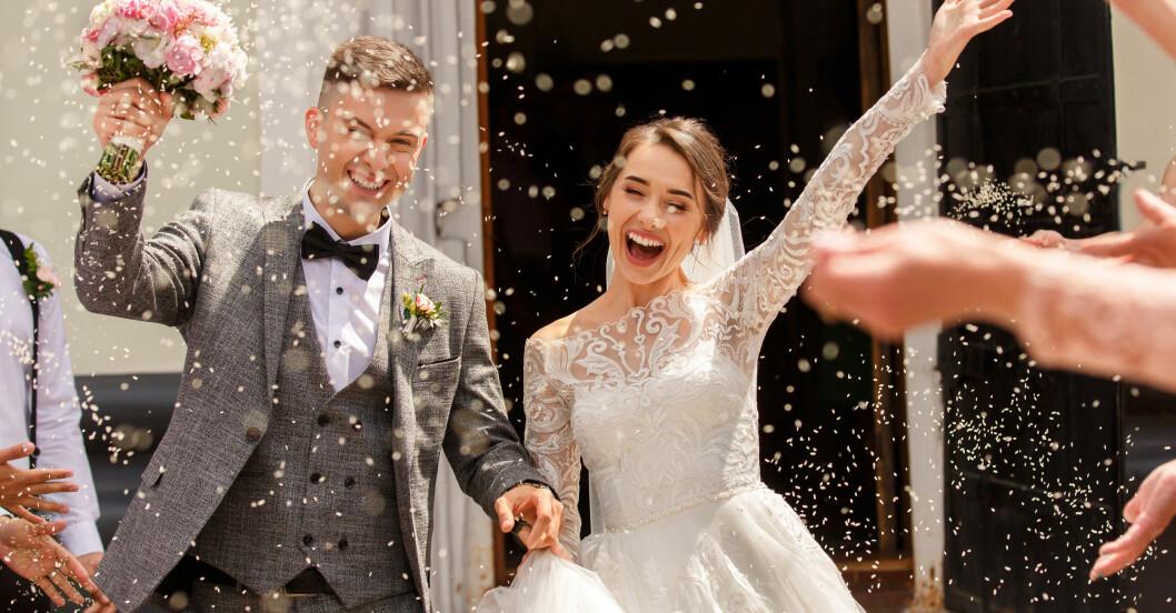Lyckligt bröllopspar