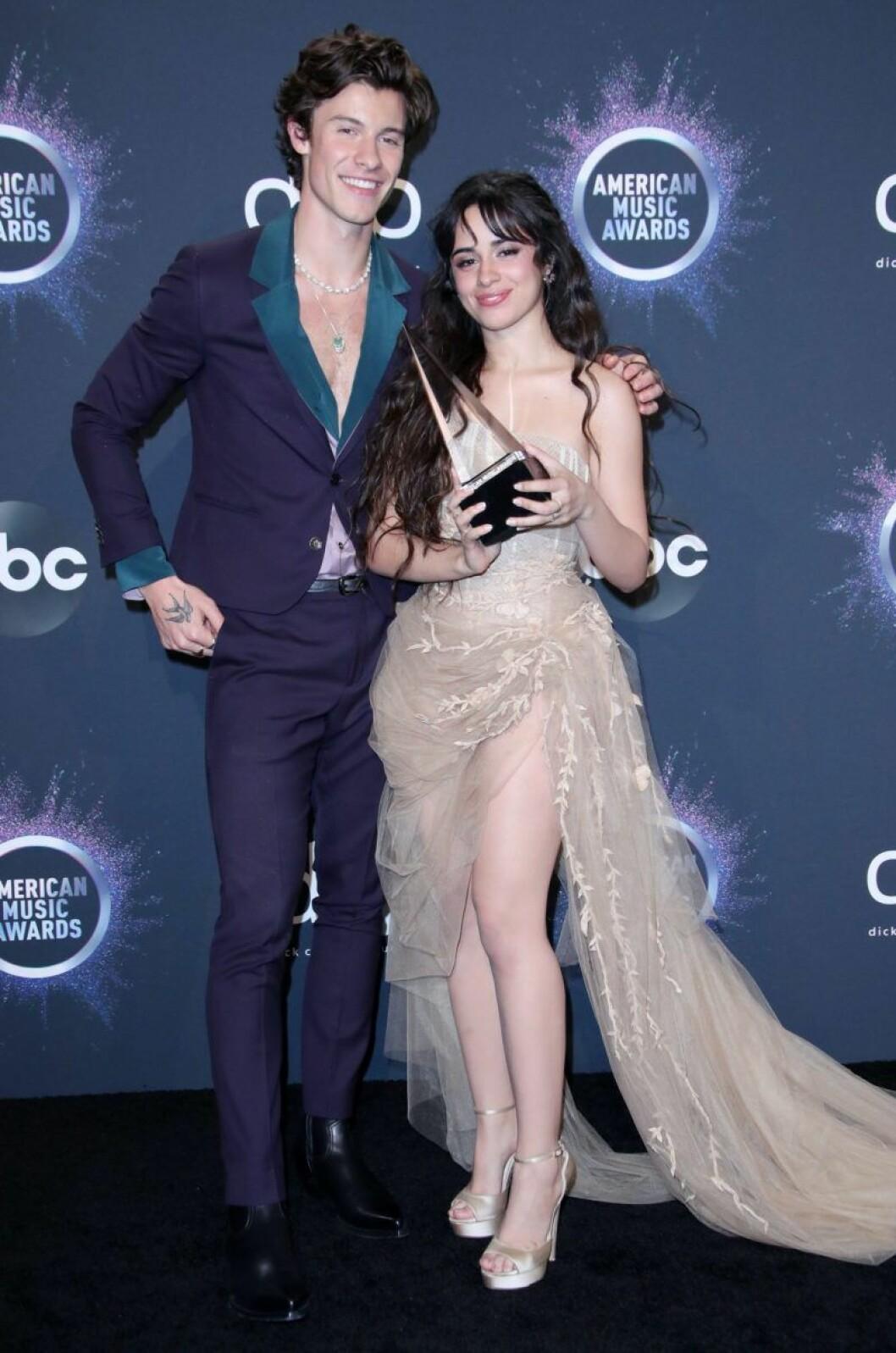 Shawn Mendes och Camila Cabello på röda mattan