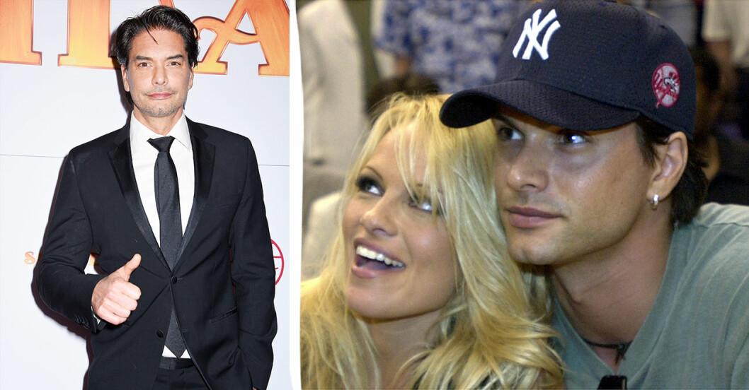 Marcus Schenkenberg med Pamela Anderson.