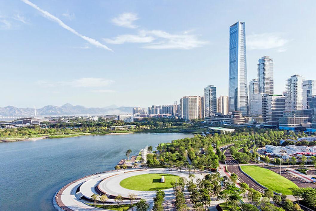 Shenzhen i Kina är en trendig stad bland resenärer 2019
