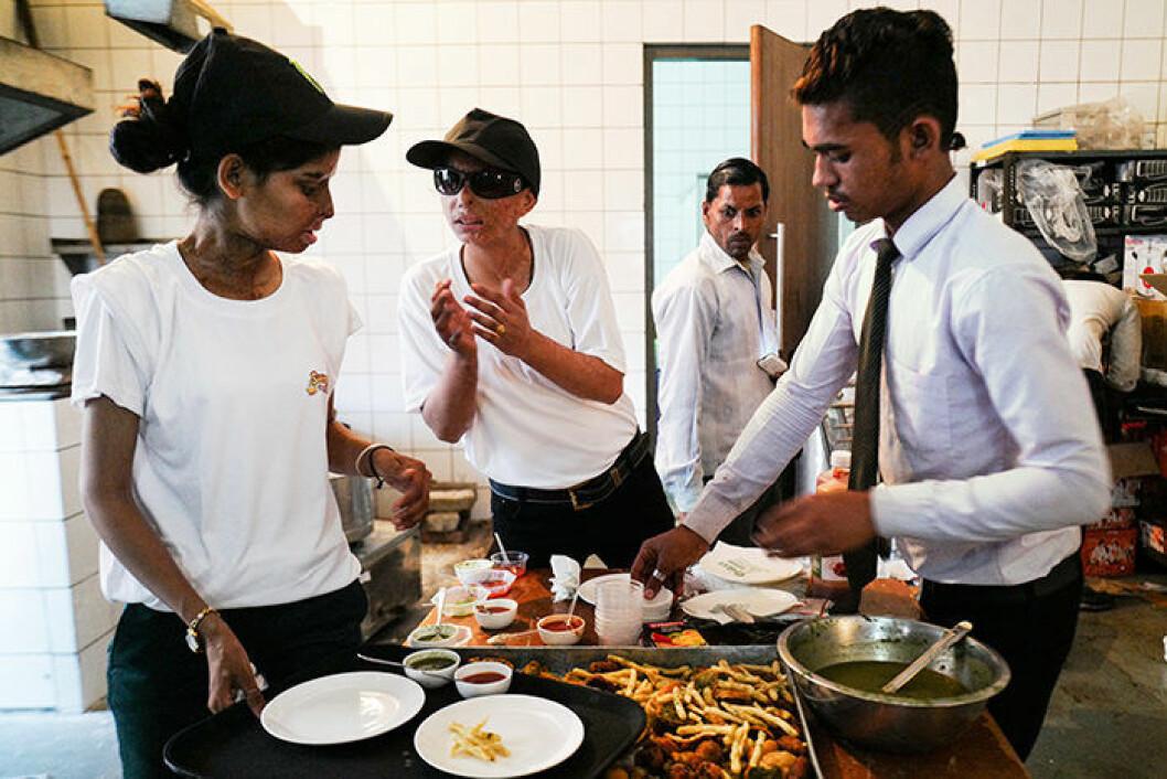 Sheroes Cafe indien