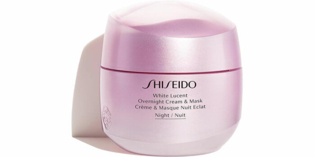 Nattkräm och nattmask i ett från Shiseido