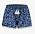 Korta shorts med resår i midjan och knytdetalj med vita toffsar. Blå leopardprint och en spetskant vid bensluten. Shorts från Shiwi.