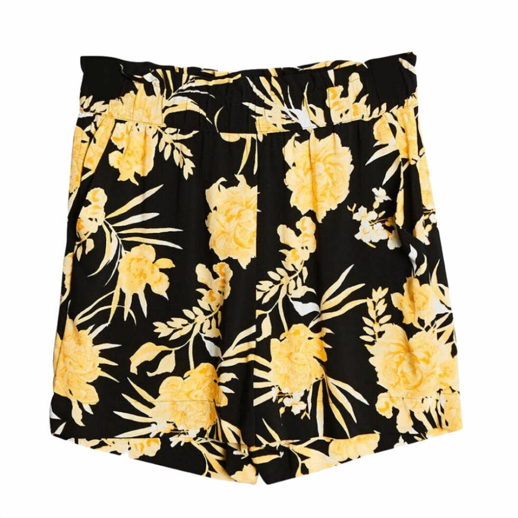 Gul/svarta shorts