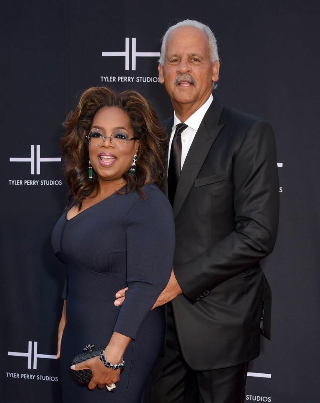 Oprah Winfrey & Stedman Graham på röda mattan