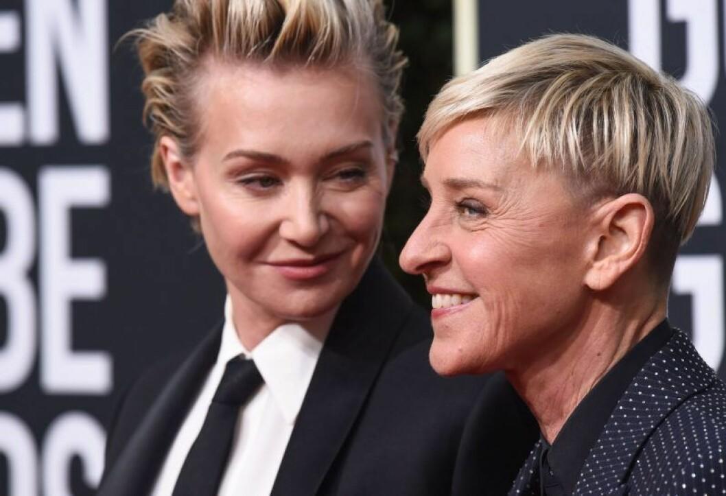 Ellen DeGeneres & Portia de Rossi i närbild