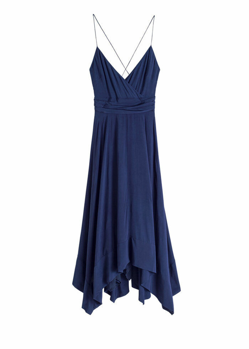 Marinblå klänning med smala axelband