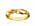 Guldring, tvinnad framtill och med olikfärgade stenar. Ring från Sif Jakobs.