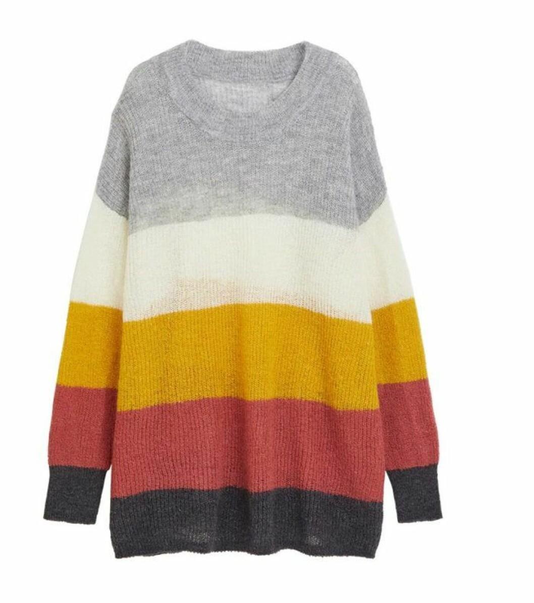 Randig stickad tröja från Lindex