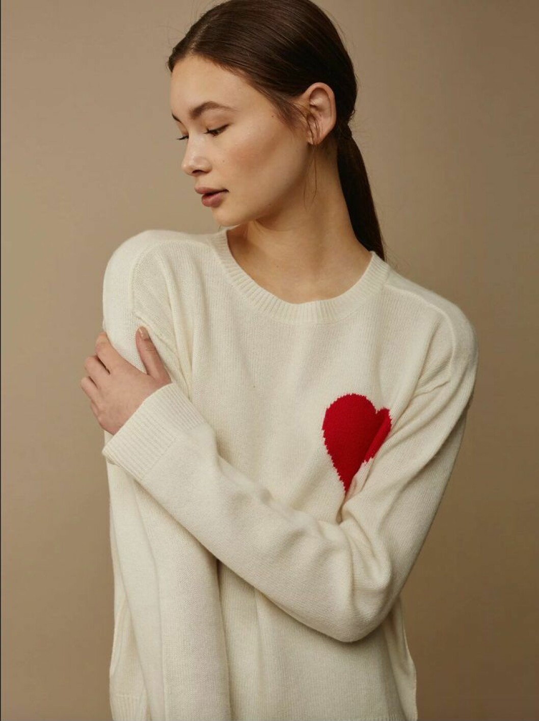 soft goat tröja med hjärta