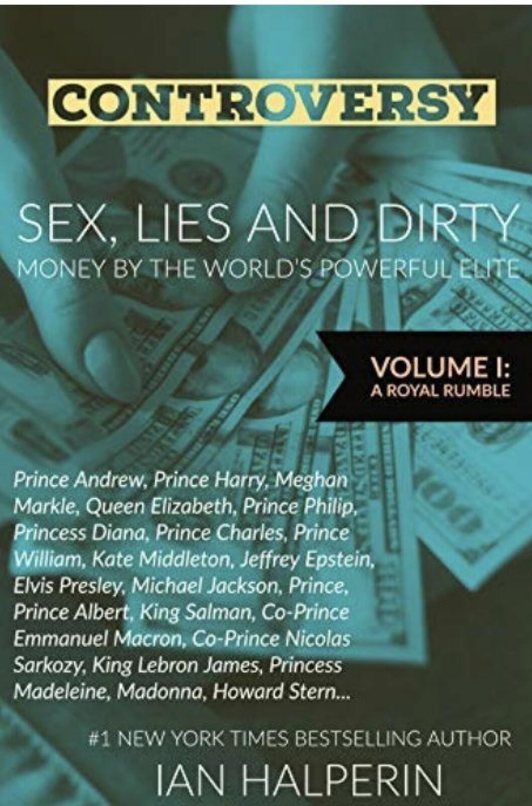 Omslaget till Ian Halperins bok. Prinsessan Madeleine nämns där vid namn.