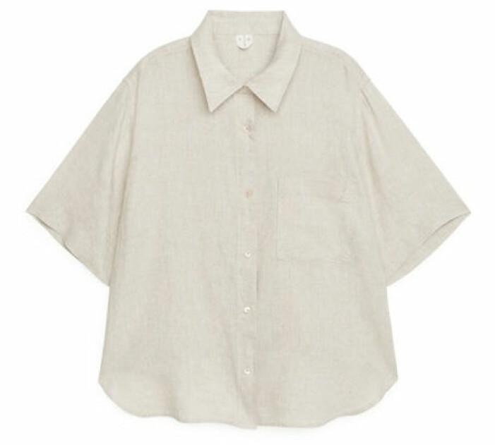 kortärmad linneskjorta