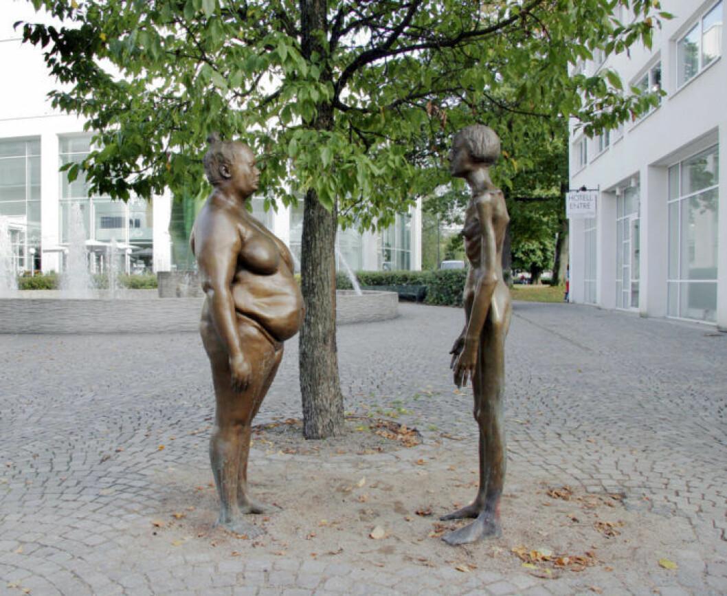 Marianne Lindbergs bronskvinnor Växjö Konsthall