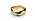 Guldfärgad ring i ojämn form. Ring från Skultuna.