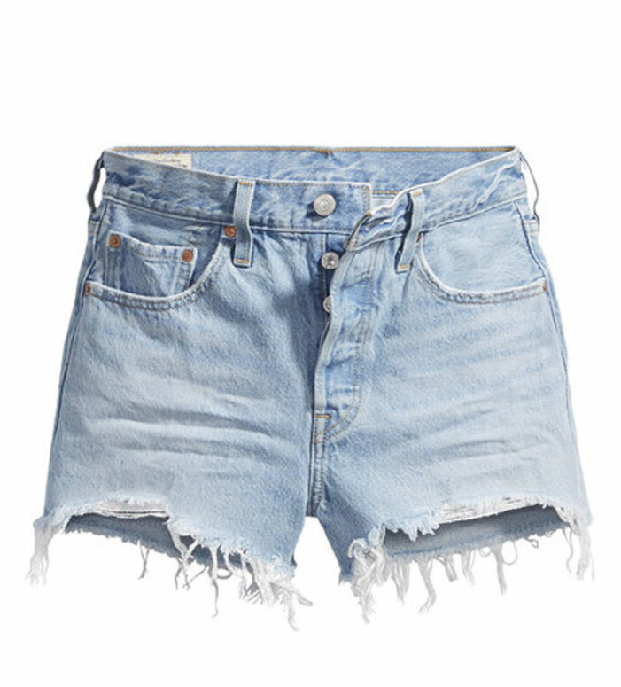 slitna jeansshorts levis