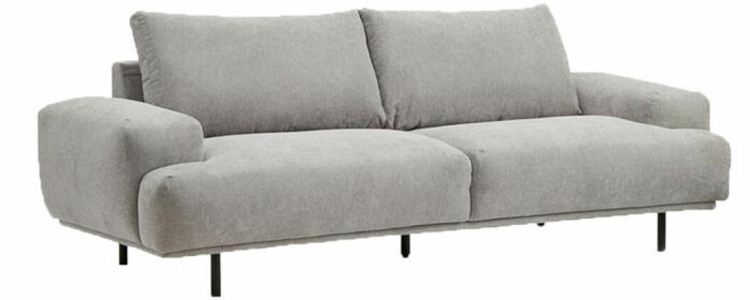 Grå 3-sits soffa