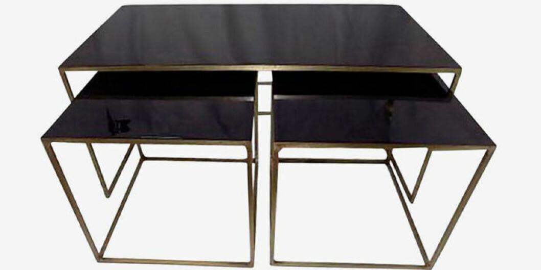 mörk färg bord 3 delar