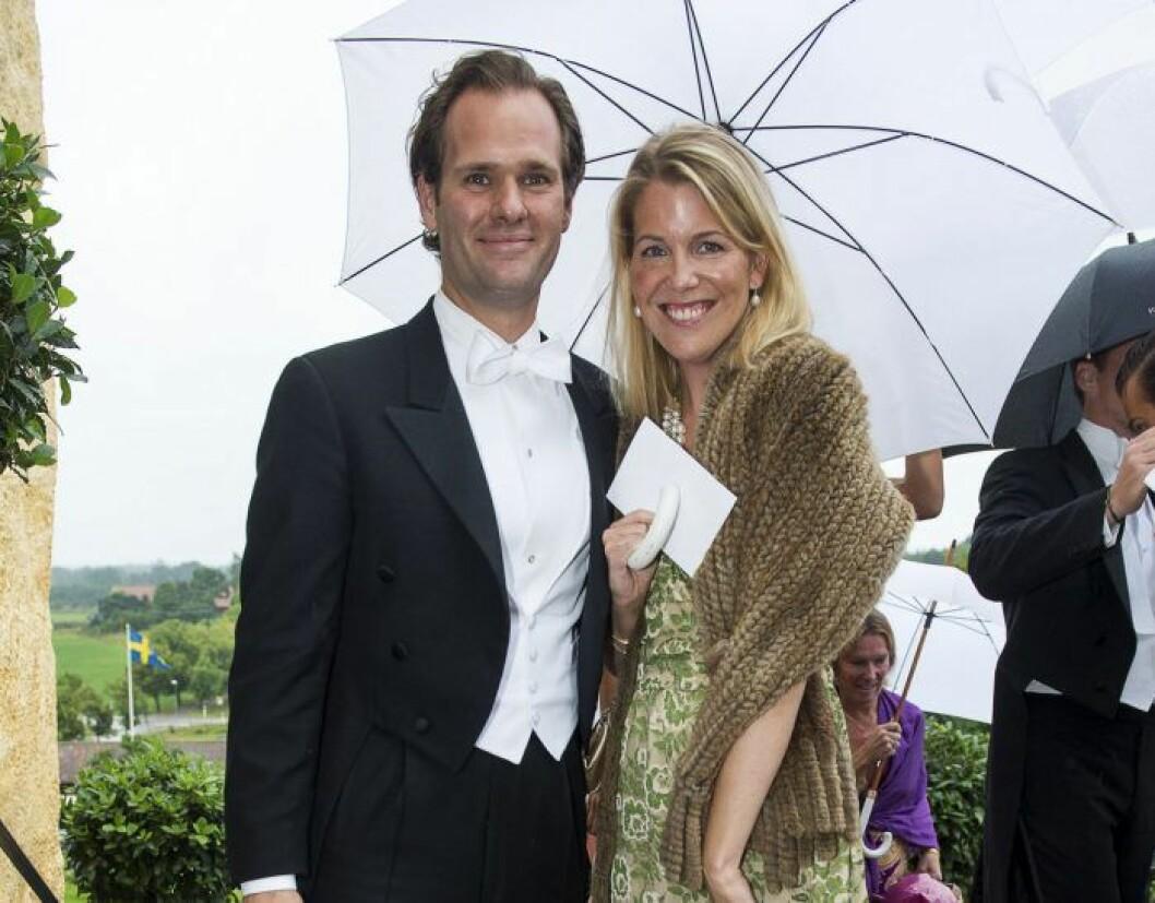 Sofia Schörling Högberg med sin man Anders Högberg.
