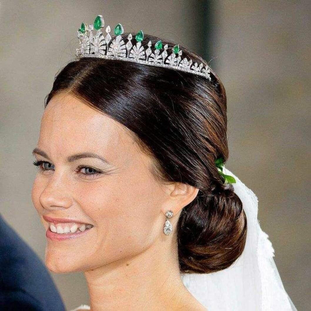 Prinsessan Sofia i sin bröllopstiara.