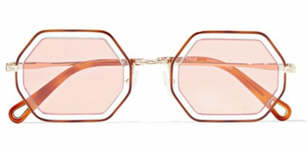 Rosa solglasögon från Chloé