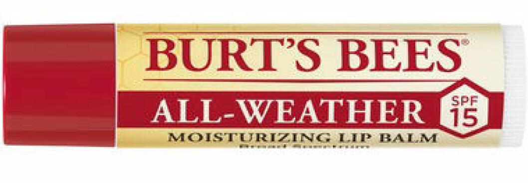 Solskydd för läpparna från Burt's Bees.