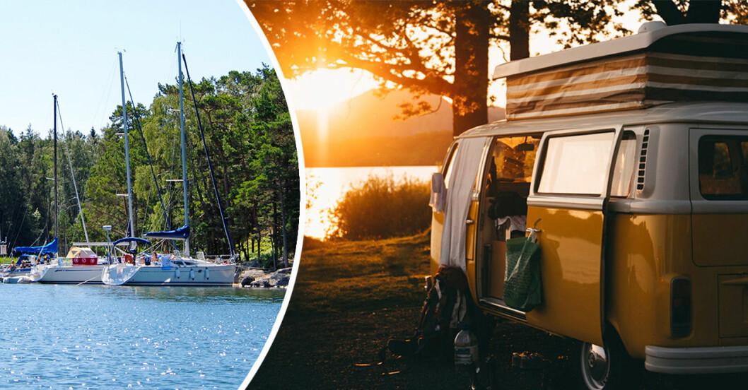 Tips på svenska sommarupplevelser. Camping och skärgård
