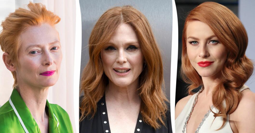 Tilda Swinton, Julianne Moore och Julianne Hough i sommarens finaste frisyrer.