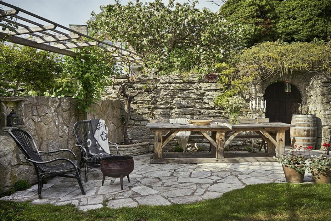 Uteplats i sommarhus på Gotland