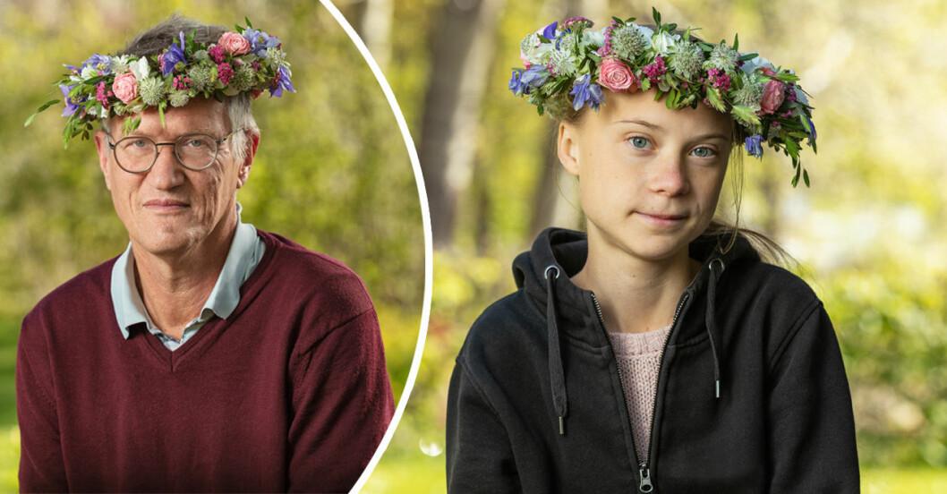 anders Tegnell och Greta Thunberg