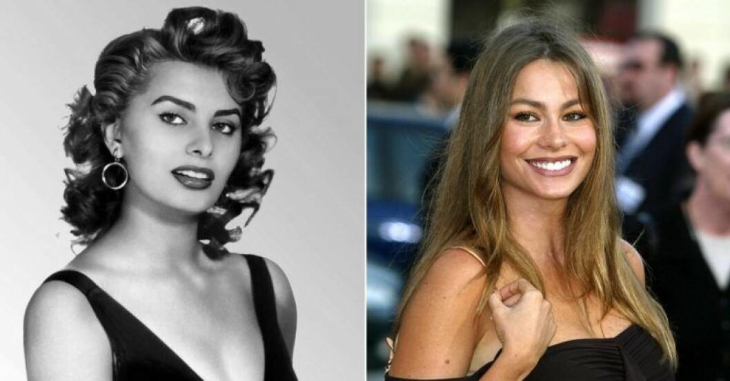 Sophia Loren och Sofia Vergara.