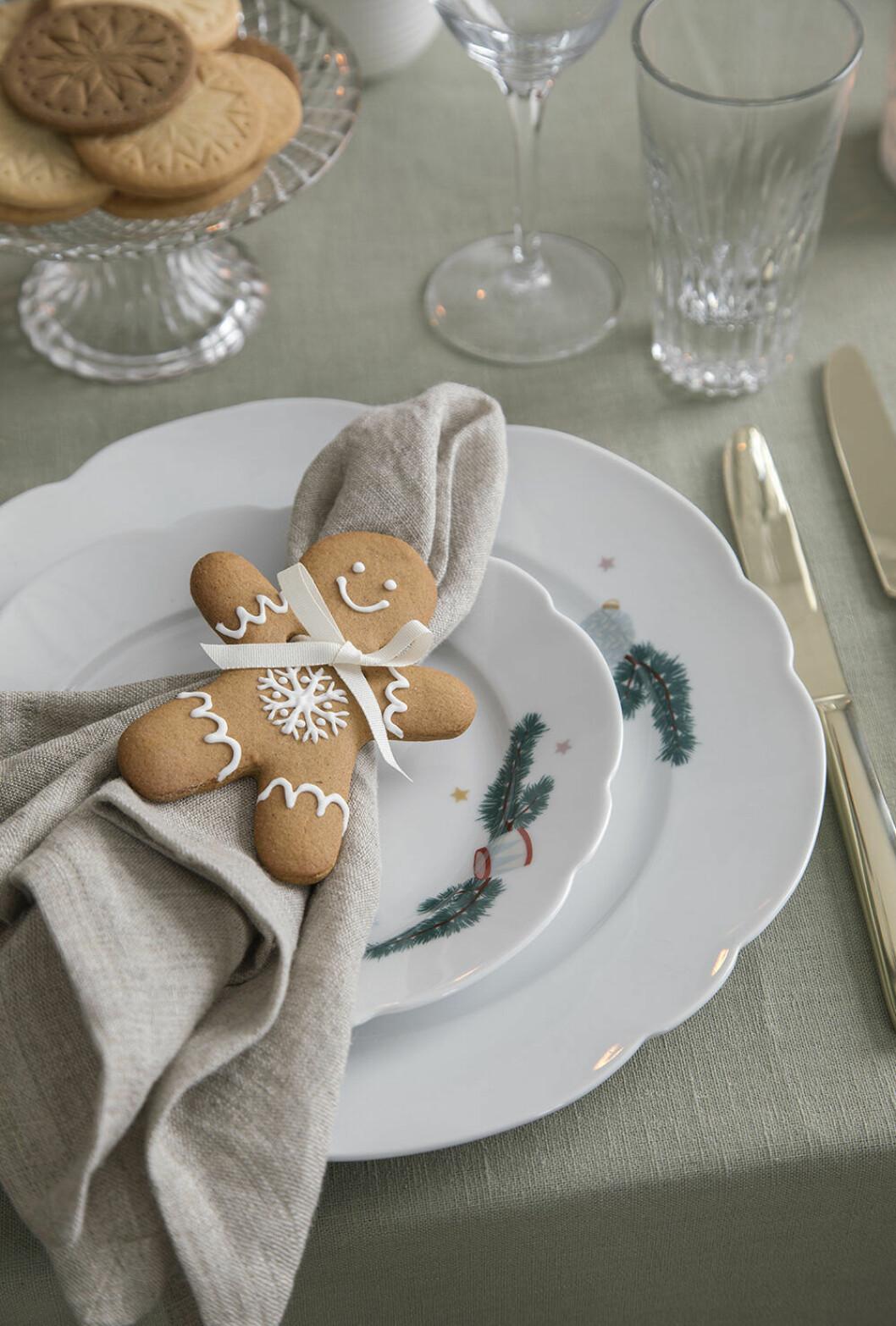 Julporslin och idé till juldukning från Sostrene Grene 2019