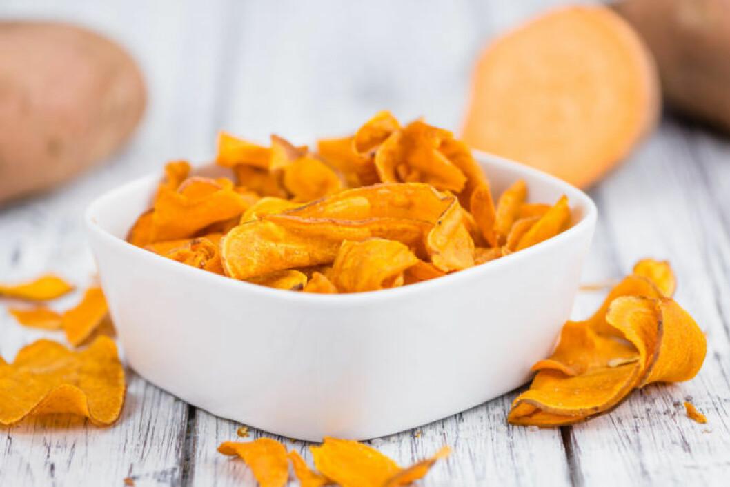 Recept chips på sötpotatis