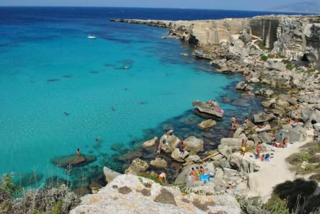 Strandtips: Spiaggia di Cala Rossa, Italien