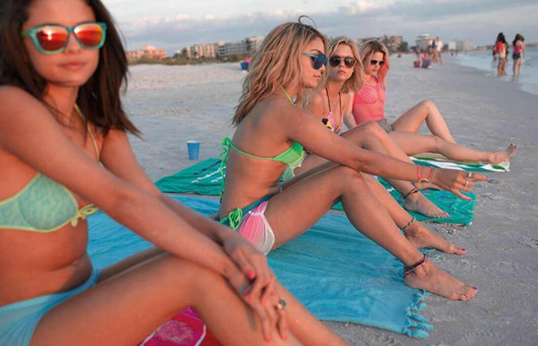 En bild från filmen Spring Breakers som hade premiär 2012.