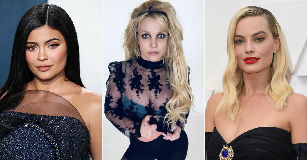 Kylie Jenner, Britney Spears och Margot Robbie