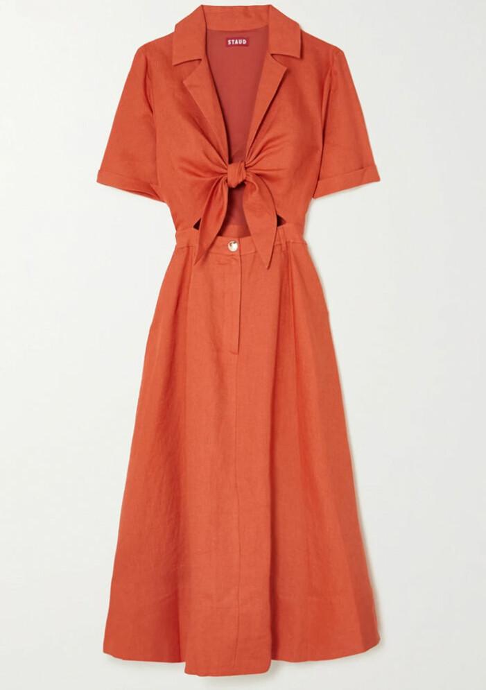brun skjortklänning från Staud