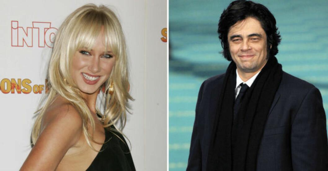 Kimberly Stewart och Benicio del Toro.