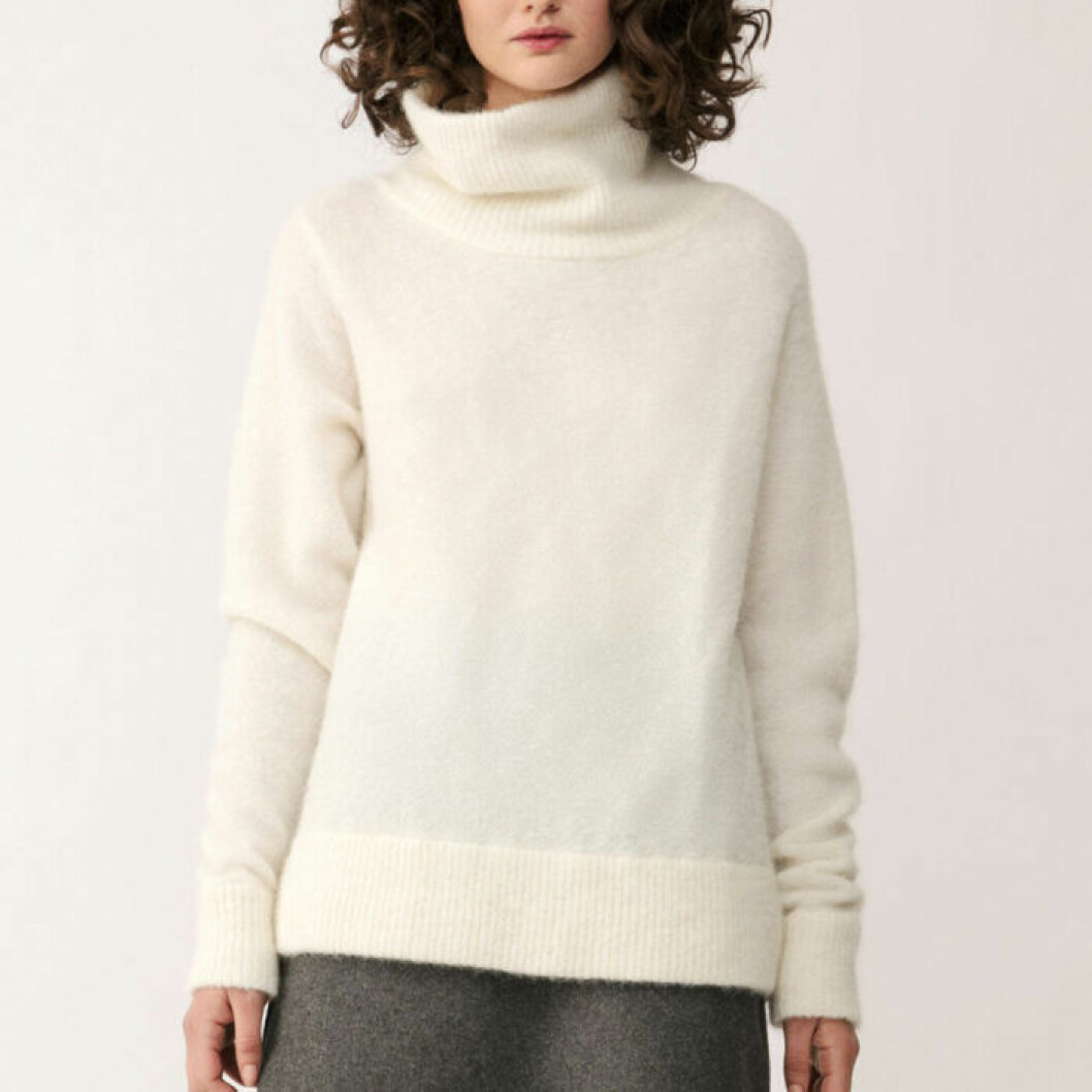 Stickad tröja med polokrage från Stylein
