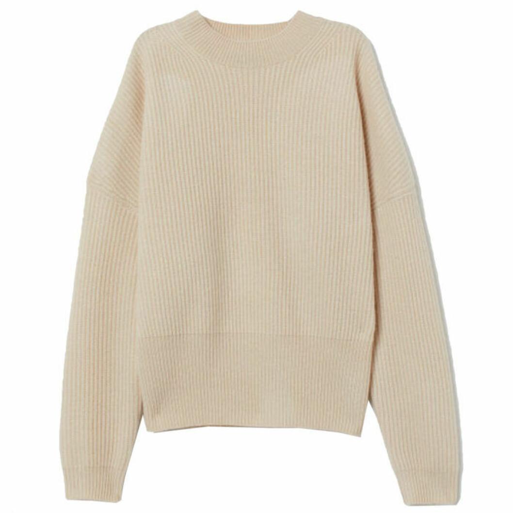 Ribbstickad tröja från H&M