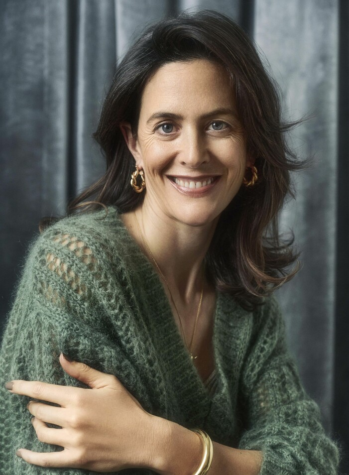 Stickad grön tröja By Malene Birger