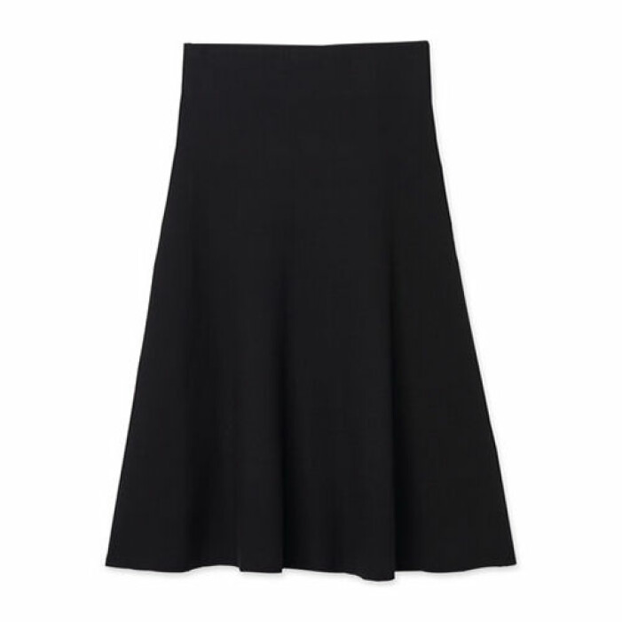 stickad kjol svart dam